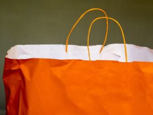 Orange San Diego Shopping Bag